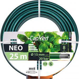 Cap Vert Tuyau d'arrosage Néo - Diamètre 19 mm - Longueur 25 m