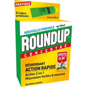 Roundup Désherbant Polyvalent Rapide Tubes Pré-dosés, x6