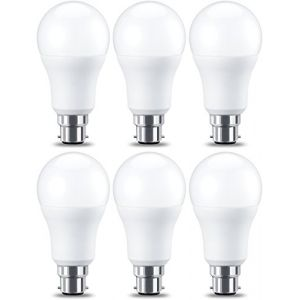 Amazon Basics Ampoule LED à baïonnette B22 A60, 10.5W (équivalent ampoule incandescente de 75W), blanc chaud - Lot de 6
