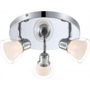 Globo Luminaire de plafond élégant 12 watt LED en chrome