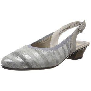 Rieker 58063, Escarpins Femme, Gris (Grau-Metallic/Nebbia), 37 EU