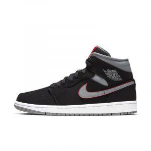 Nike Chaussure Air Jordan 1 Mid pour Homme - Noir - Couleur Noir - Taille 47.5