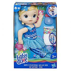 Hasbro Poupée Baby alive sirène cheveux blonds