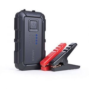 Anker PowerCore Jump Starter mini - Booster démarreur de voiture pour engins jusqu'à 2.8L avec batterie externe 2 ports USB, protection avancée et lampe torche LED