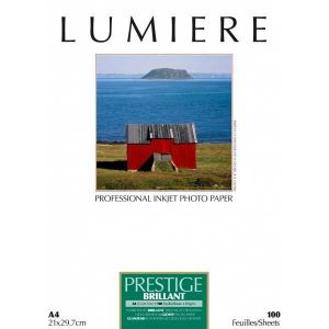 Lumiere LUM3100135 - Papier photo Prestige brillant 100 feuilles 12,7x17,8 cm