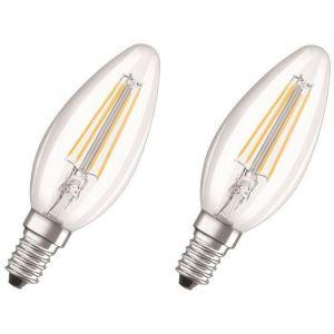 Image de Osram Ampoule LED E14 en forme de bougie 4 W = 40 W blanc chaud (Ø x L) 35 mm x 97 mm EEC: A++ à filament