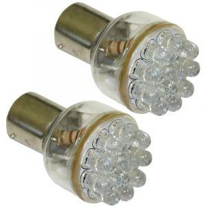Aerzetix : Lot de 2 Ampoules 24V P21W à 12LED - C1711
