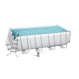 Bestway Kit piscine rectangulaire Power Steel Frame L 488 x l 244 x H 122 cm