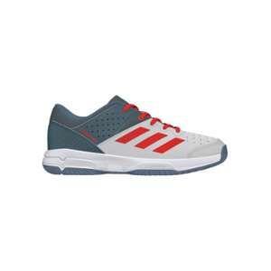 6815edb7c2a74 Adidas Chaussures Handballl Court Stabil 13 Junior Gris/Blanc/Rouge