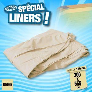 Ubbink Liner pour piscine bois rectangulaire Coloris du liner - Beige, Modèle - Rectangulaire 5,55 x 3,00 x h1,40m