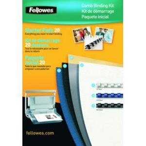 Fellowes Kit de reliure par anneaux pour 20 dossiers