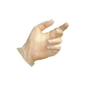Mapa Paire de gants jetables vinyle poudré blanc taille 9 - Boîte de 100