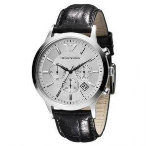Image de Emporio Armani Montre chronographe Homme - Bracelet Cuir Noir