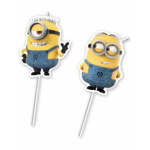 6 pailles Lovely Minions