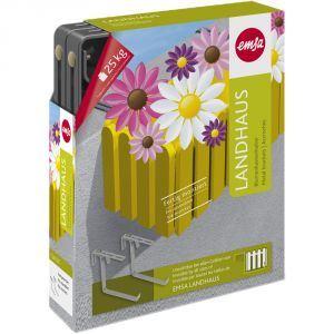 Emsa Paire d'accroche Landhaus en métal pour pot de fleurs