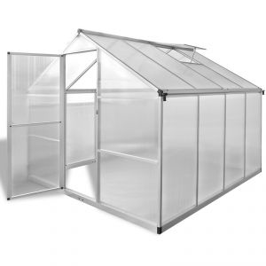 VidaXL 41318 - Serre renforcée en aluminium avec bâti intégré 6,05 m²