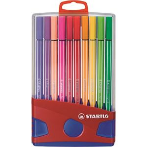 Stabilo Chevalet de 20 Stylos feutre Pen 68 couleurs assorties