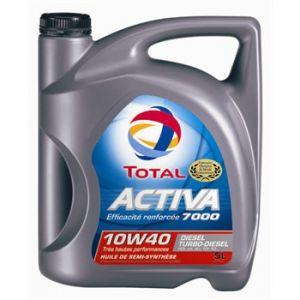 Total Huile moteur Activa 7000 10W40 Diesel 5 L