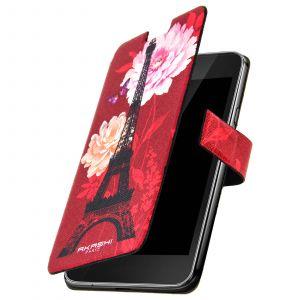 Akashi Étui folio Red Lacy Eiffel pour Huawei P8 Lite (2017)