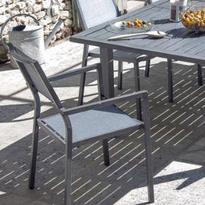 Proloisirs Fauteuil de jardin Florence en aluminium et textilène