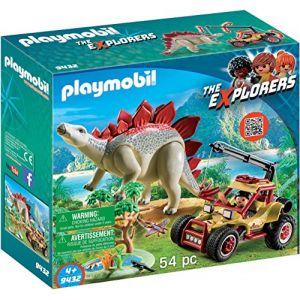 Playmobil 9432 - The Explorers : véhicule et stégosaure