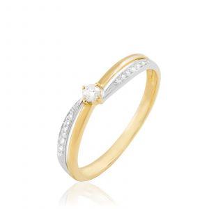 Histoire d'Or Selene - Bague en or ornée de diamants - bicolore