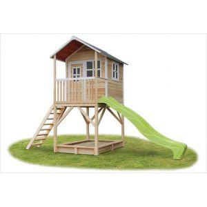 Exit Toys Loft 700 - Cabane en bois avec toboggan
