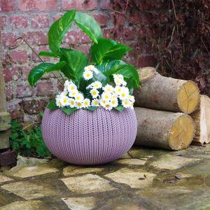 Chalet et Jardin Cache pot aspect tricoté taille M
