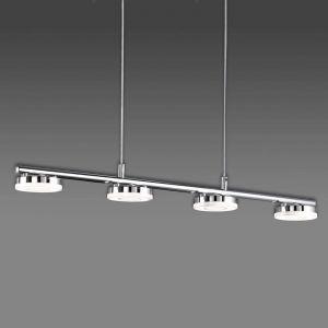 Trio Suspension 4 lampes led Rennes Chrome Métal R32414106