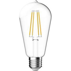 Dhome Ampoule LED décorative à filament forme Edison E27 - 806 lm