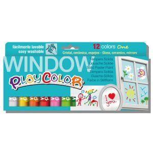 Instant Educa Gouache solide Playcolor en stick - Assortiment Window - 12 tubes