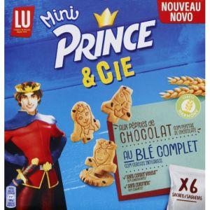 Lu Mini Prince & Cie - Les minis biscuits rigolos aux pépites de chocolat et au blé complet