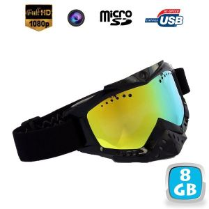 Yonis Y-LMSCSEHD720PN - Masque de ski avec caméra sport HD 1080P
