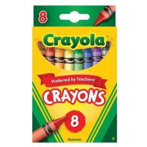Crayola 8 crayons pastels
