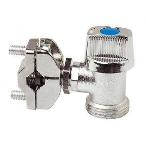 Dipra Robinet autoperceur 1/4 de tour équerre M20/27 - pour tube cuivre de 10 a 16mm Robinet autoperceur 1/4 de tour équerre M20/27 - pour tube cuivre de 10 à 16mm