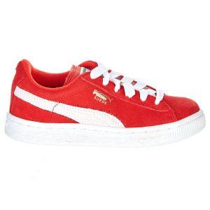 Puma Chaussures enfant Suede Junior rouge - Taille 28
