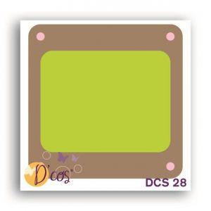 Toga Forme de découpe die D'cos Diapo 3,8 x 3,8 cm