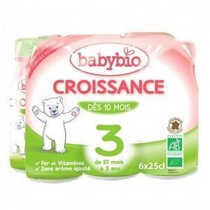 BabyBio Lait de croissance liquide 6 x 25 cl - dès 10 mois
