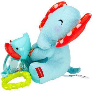 Fisher-Price Peluche maman et bébé éléphant