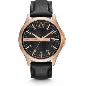 Giorgio Armani AX2129 - Montre pour homme avec bracelet en cuir