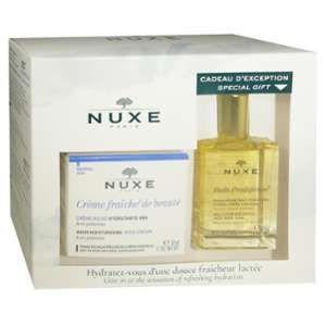 Nuxe Coffret Crème Fraîche peaux sèches + Huile prodigieuse offerte