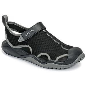 Crocs Sandales SWIFTWATER MESH DECK SANDAL M Noir - Taille 42 / 43,46 / 47,43 / 44,48 / 49,45 / 46,39 / 40,41 / 42