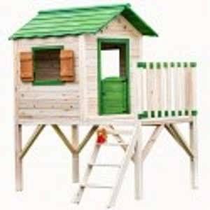 Habrita Maisonnette pour enfant sur pilotis en bois peint 3.20m²