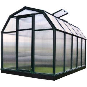 Palram Serre de jardin verte Ecogrow 6,3 m² - Résine et polycarbonate - Double parois