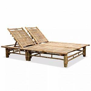 VidaXL Chaise longue à 2 places avec dossier réglable 200 cm