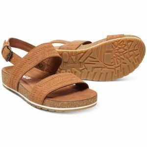 Timberland Women´s Malibu Waves 2-Band Sandal - Sandales de marche taille 9,5, brun/orange/beige