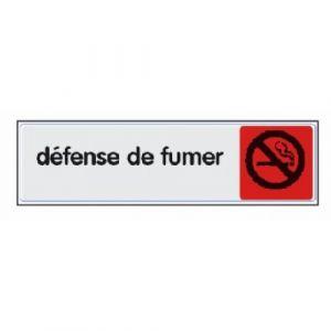 Novap Panneaux de réglementation plexiglas - 170x40 mm - Défense de fumer