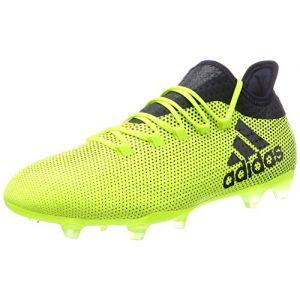 Adidas X 17.2 FG, Chaussures de Football Homme, Jaune (Solar Yellow/Legend Ink/Legend Ink), 45 1/3 EU