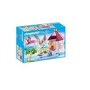 Playmobil 9289 - Princess : Pavillon du Roi avec cheval ailé