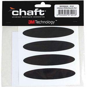 Chaft Autocollant Stickers réfléchissants noir